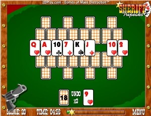 Classic reinvention of solitaire in TripeaksSheriff